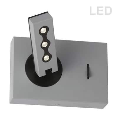 6-Watt 3-Light Silver Integrated LED Wall Sconce