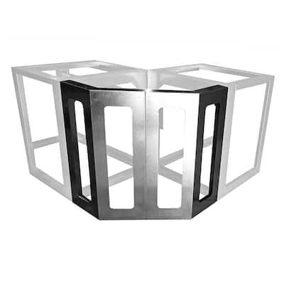 45° Corner Kit Outdoor Kitchen Framing Island Module in Galvanized Steel