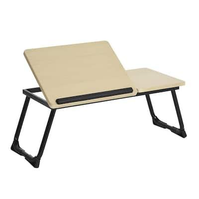 Laptop Tray Light Wood Adjustable Table
