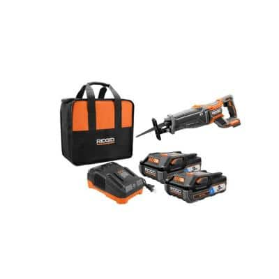 18-Volt OCTANE Lithium-Ion (2) 3.0 Ah Batteries and Charger Kit w/Free OCTANE Lithium-Ion Brushless Reciprocating Saw