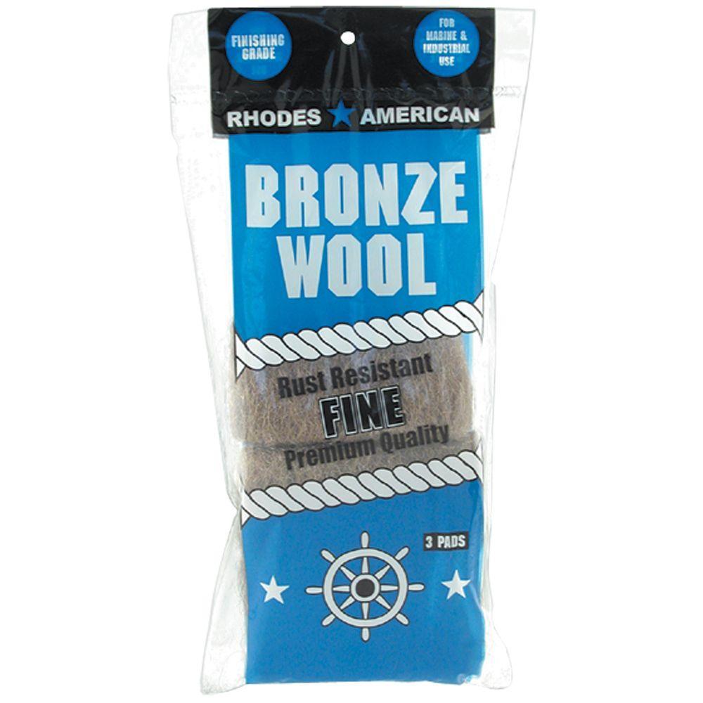 Fine Grade Bronze Wool Pads (3-Pack)