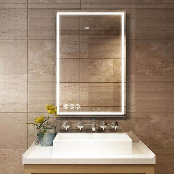 Boyel Living 36 In W X 24 H, Home Depot Bathroom Mirror With Lights