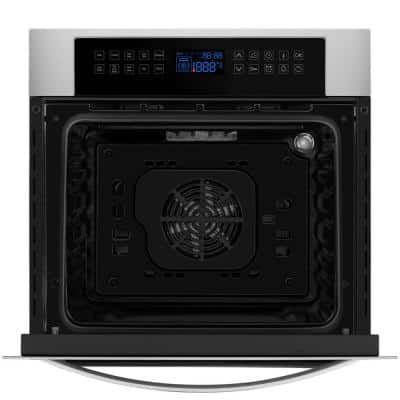 24 in. Single Wall Electric Oven with Convection in Stainless Steel - Soft Controls
