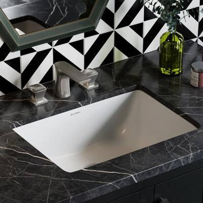 Plaisir 21 in. Rectangular Undermount Bathroom Sink in Glossy White