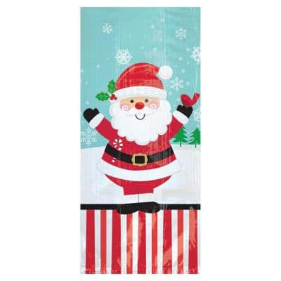 11.5 in. x 5 in. x 3.25 in. Christmas Jolly Santa Cello Large Party Bag (20-Count 5-Pack)