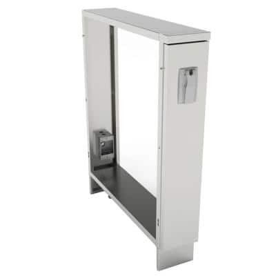 6 in. Component Spacer Cabinet with Front Electrical Cover and Interior 1-Gang Box