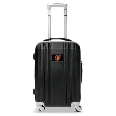MLB Baltimore Orioles 21 in. Black Hardcase 2-Tone Luggage Carry-On Spinner Suitcase