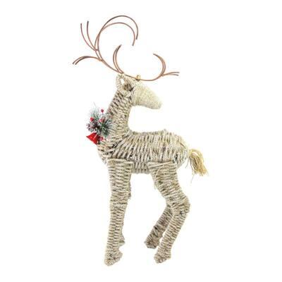 27 in. Reindeer Facing Backwards Twine Christmas Figure