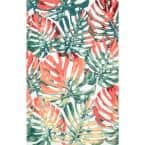 Janice Floral Multi 5 ft. x 8 ft. Indoor/Outdoor Area Rug