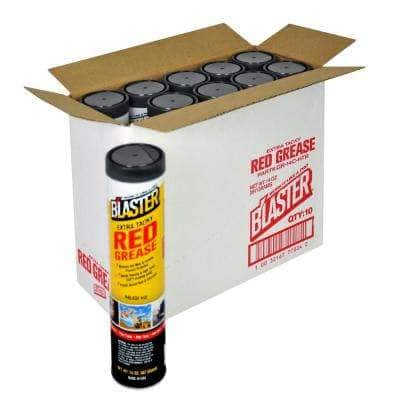14 oz. Extra Tacky Red Grease Cartridge (Case of 10)