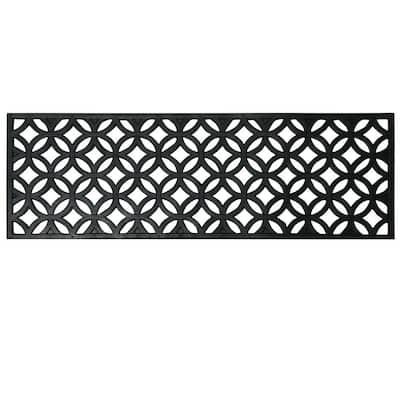 Azteca Black 9.75 in. W x 29.75 in. L Indoor Outdoor Stair Treads Rubber Step Mats