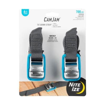 CamJam 6 ft. Tie Down Strap (2-Pack)
