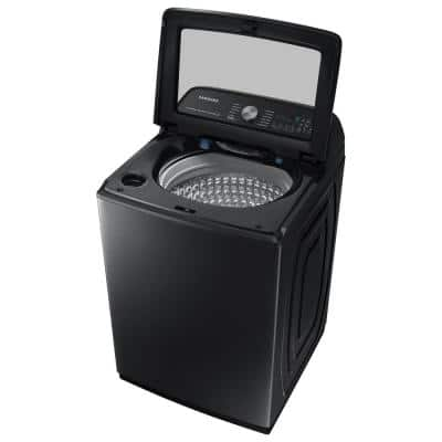 5.2 cu. ft. Large Capacity Smart Top Load Washer with Super Speed Wash in Brushed Black