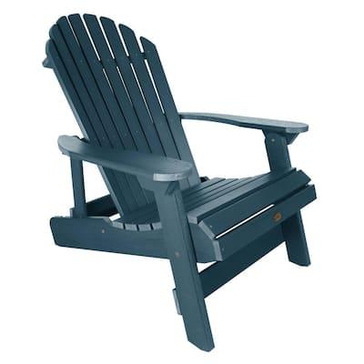 King Hamilton Nantucket Blue Folding and Reclining Recycled Plastic Adirondack Chair