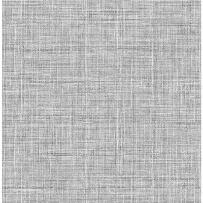 Barbary Black Crosshatch Texture Black Wallpaper Sample