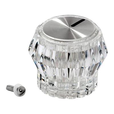 Crystalline Knob Handle, Polished Chrome