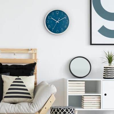 13 in. Weekender Silent Sweeping Quartz Analog Wall Clock