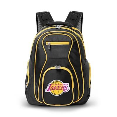 NBA LA Lakers 19 in. Black Trim Color Laptop Backpack