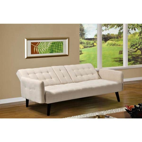 Us Pride Furniture Payne 72 In Beige, Beige Sofa Bed Couch