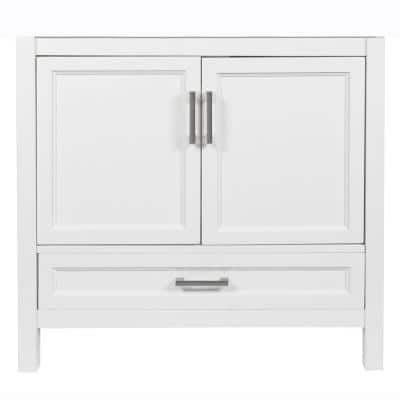 Salerno 37 in. W x 22 in. D x 34.5 in. H Bath Vanity Cabinet Only in White