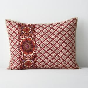 Thornwood Multicolored Geometric Cotton Blend Embroidered King Sham