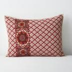 Thornwood Multicolored Geometric Cotton Blend Embroidered Standard Sham