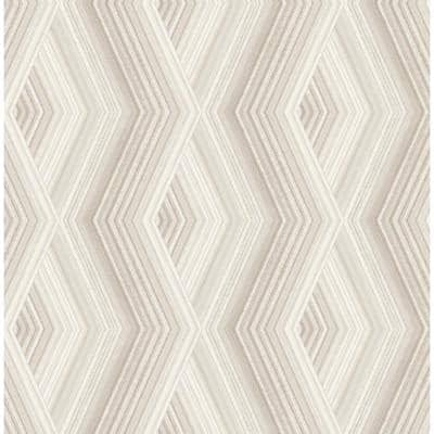 Aura Taupe Geometric Taupe Wallpaper Sample