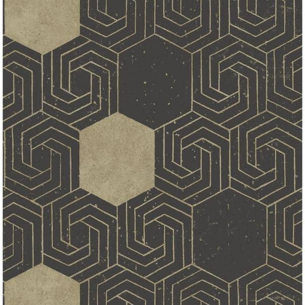 A Street Prints Momentum Dark Brown Geometric Paper Strippable Roll Covers 56 4 Sq Ft 2902 25548 The Home Depot