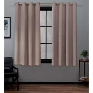 Blush Thermal Grommet Blackout Curtain - 52 in. W x 63 in. L (Set of 2)