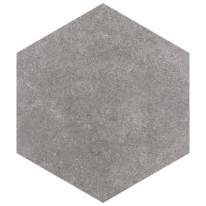 Traffic Hex Grey 8-5/8 in. x 9-7/8 in. Porcelain Floor and Wall Tile (11.56 sq. ft. / case)