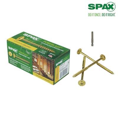 1/4 in. x 5 in. Yellow Zinc Coated T-Star Drive Washer Head PowerLag Screw (50 per Box)