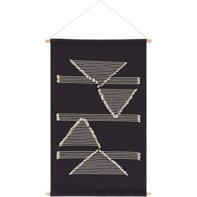 Atley 24 in. x 36 in. Black Wall Hanging