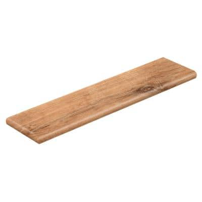 Fresh Oak/Elk Wood 47 in. L x 12-1/8 in. D x 1-11/16 in. H Vinyl Left Return to Cover Stairs 1 in. Thick