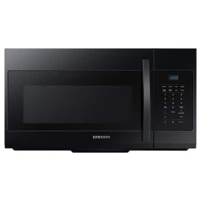 30 in. W 1.7 cu. ft. Over the Range Microwave in Black