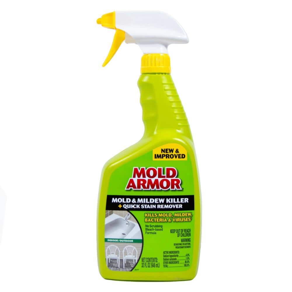 Mold Armor 32 Oz Mold And Mildew Killer With Quick Stain Remover Fg502 The Home Depot