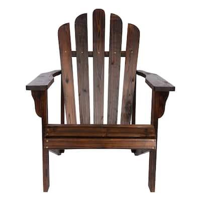 Westport Burnt Brown Cedar Wood Adirondack Chair