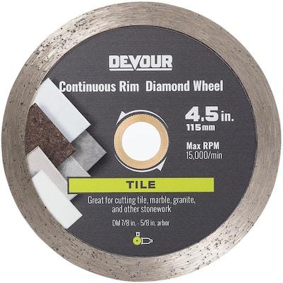 4.5 in. Tile Metal Bond Continuous Rim Blade Diamond Wheel