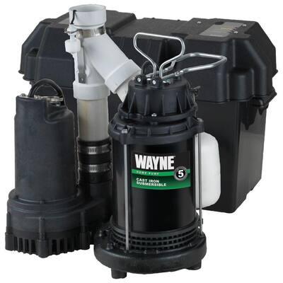 1/2 HP Battery Backup Sump Pump System