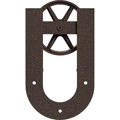 1-5/8 in. x 8 in. x 13-5/8 in. Steel Premium Wagon Wheel Horseshoe Roller Hanger Moulding Copper Vein