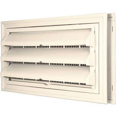 9-3/8 in. x 17-1/2 in. Foundation Vent Kit w/ Trim Ring and Optional Fixed Louvers (Molded Screen) #021 Sandstone Beige