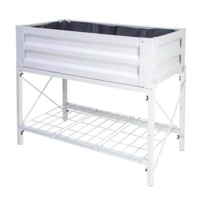 Stand Up Steel Raised Garden Planter with Liner