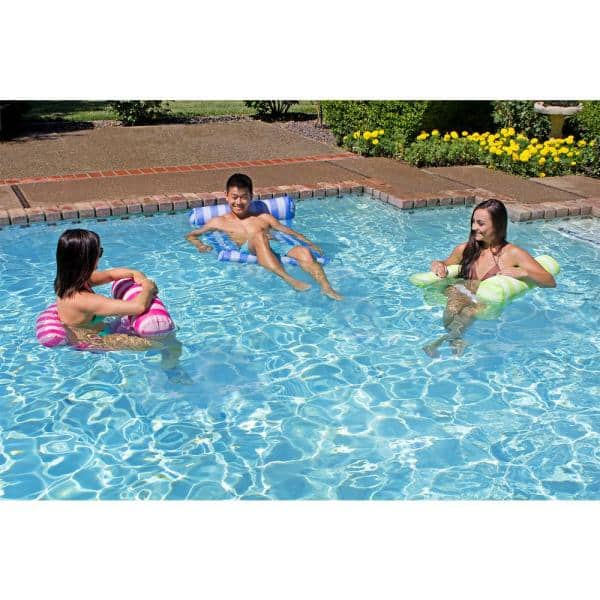 Poolmaster Green Water Hammock Swimming Pool Float Lounge 07433 The Home Depot
