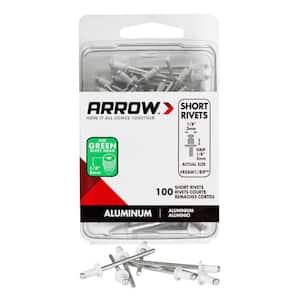 1/8 in. Aluminum Short Rivets (100-Pack)