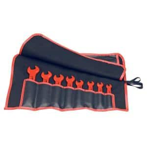 SAE 1,000-Volt Insulated Open End Wrench Set (8-Piece)
