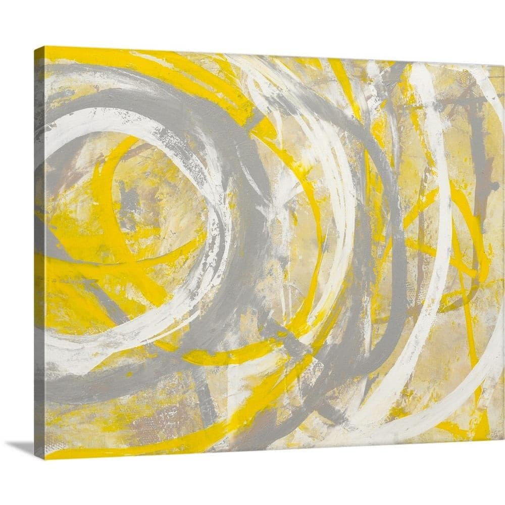 Greatbigcanvas 20 In X 16 In Yellow Aura By Erin Ashley Canvas Wall Art 2318256 24 20x16 The Home Depot