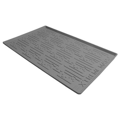 34 in. x 22 in. Grey Kitchen Depth Under Sink Cabinet Mat Drip Tray Shelf Liner