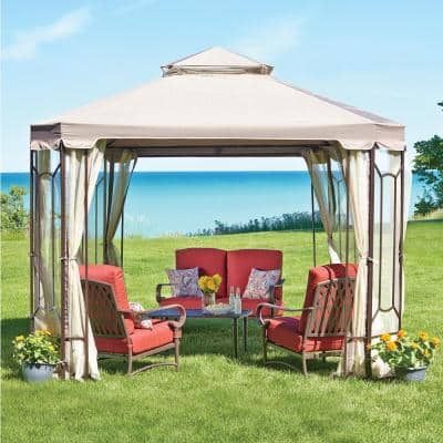 Replacement Netting Outdoor Patio for 10 ft. x 10 ft. Cottleville Gazebo