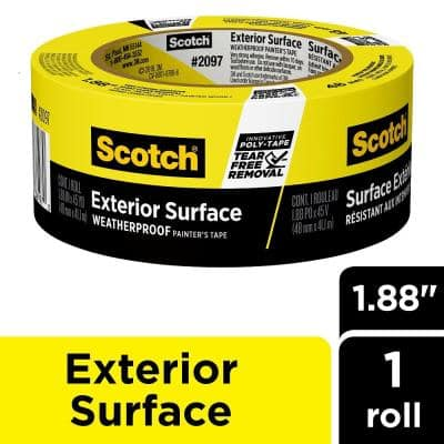 Scotch 1.88 in. x 45 yds. Exterior Surfaces Painter's Tape (Case of 6)
