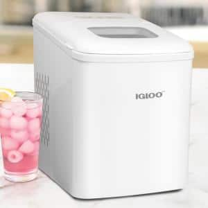 26 lb. Portable No Handle Ice Maker in White
