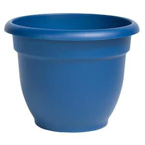 Ariana 17.75 in. Classic Blue Plastic Self-Watering Planter